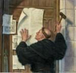 A la puerta de la iglesia del Palacio de Wittenberg en Alemania. La madrugada del 31 de octubre de 1917.